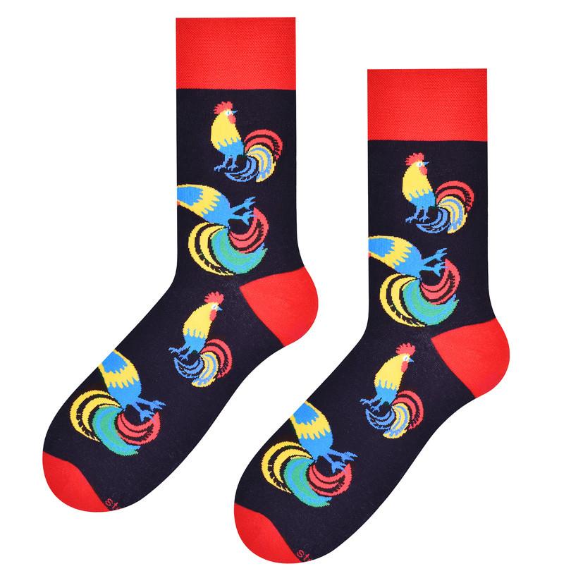 Pánské ponožky FOLK 118 černá 39-42