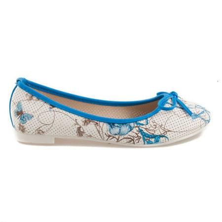 Modré balerínky s květy 38
