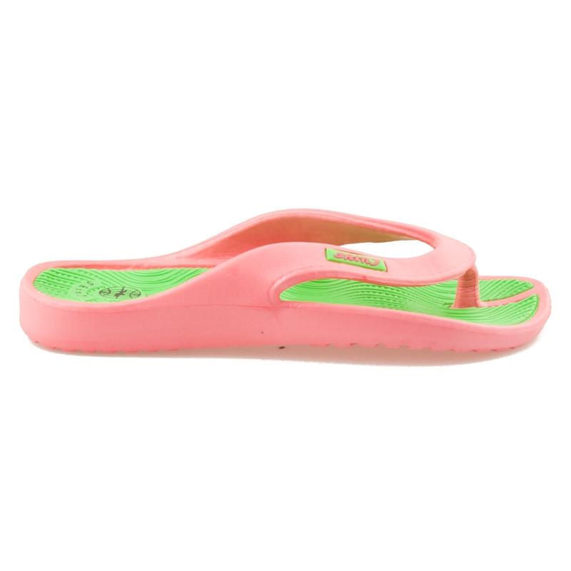Růžové pohodlné žabky na léto 36