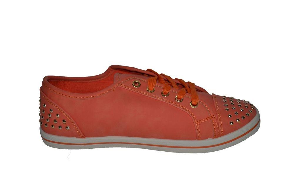 Nízke oranžové tenisky 40