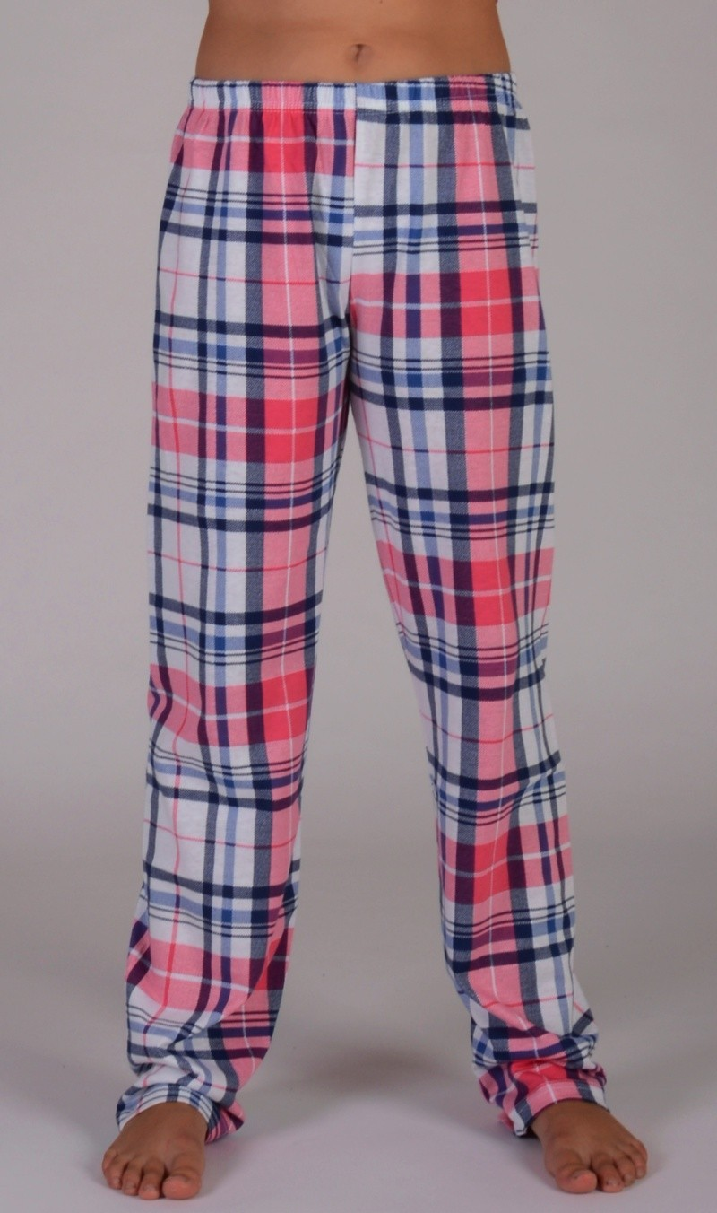 Detské pyžamové nohavice Lucie losos 3 - 4