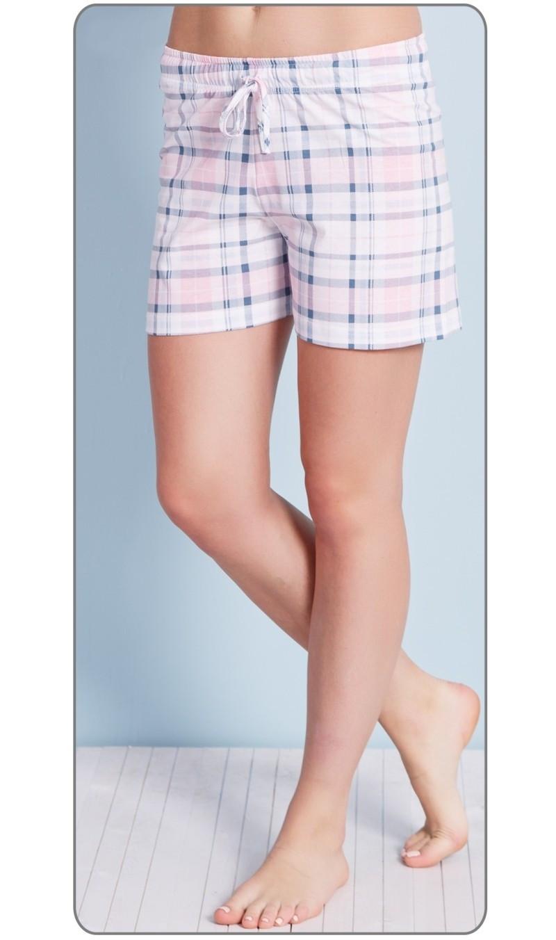 Dámské pyžamové šortky Magdalena růžová 4XL