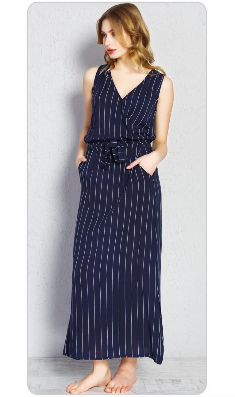 Dámske šaty Alena tmavo modrá S