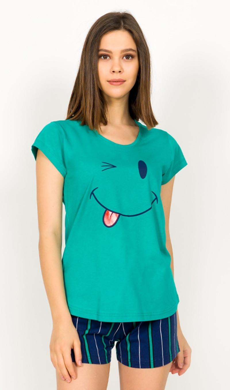 Dámske pyžamo šortky Eva zelená S