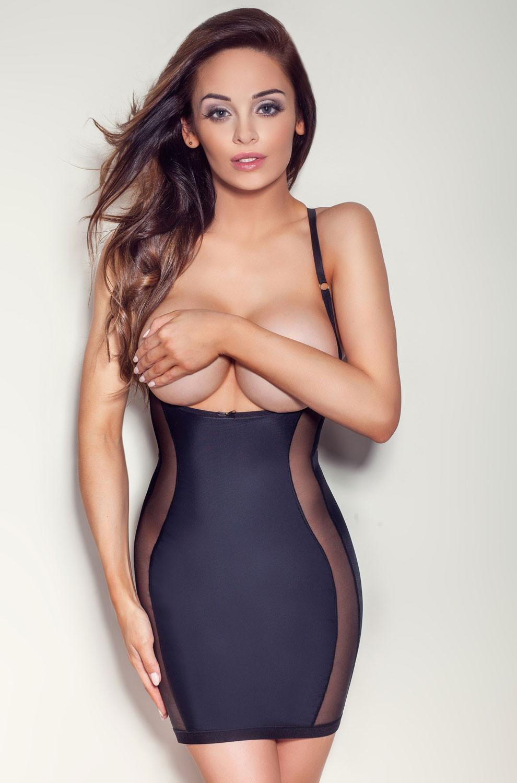 Zeštíhlující šaty model 49329 Mitex XL