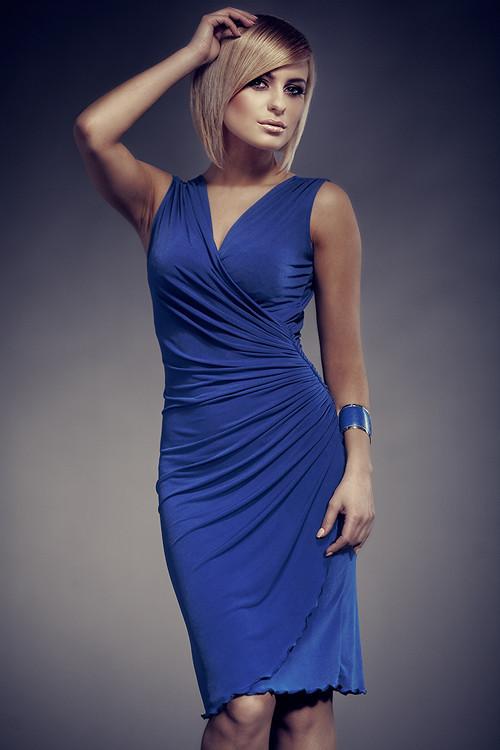 Dámske šaty 053 modré - Figl XL