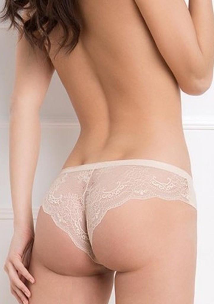 Dámské kalhotky Julimex Tanga XL Tělová
