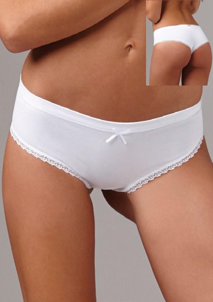 Bavlněné kalhotky Lovelygirl 6651 L Bílá
