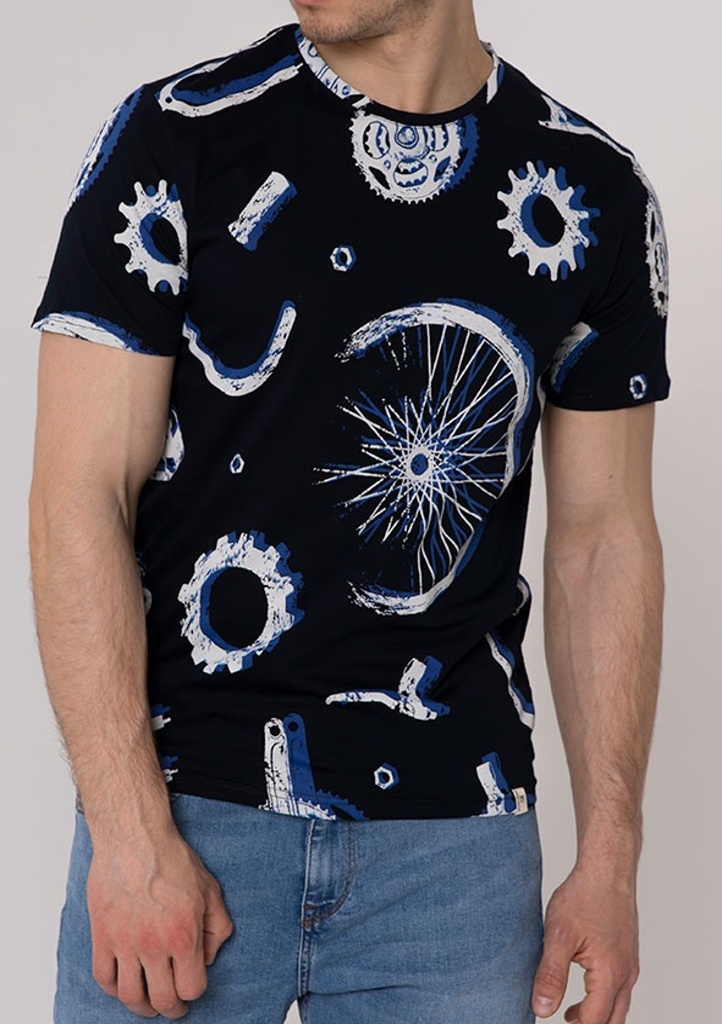 Pánske tričko John Frank JFTEF13 S čierna