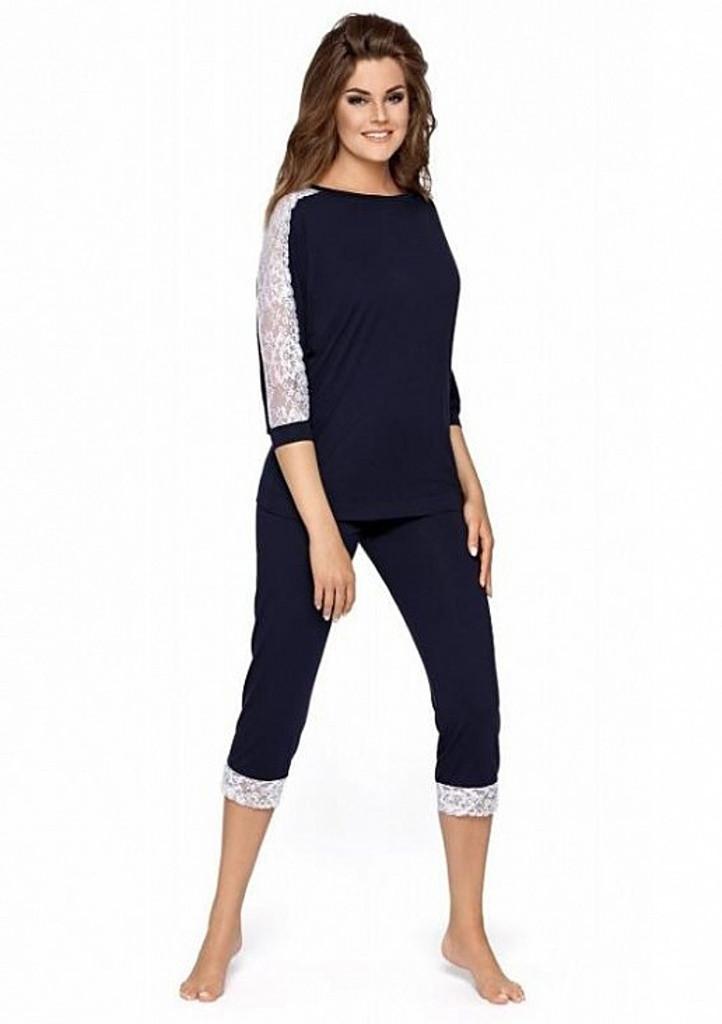 Dámske pyžamo Babella Toscana XL Tm. modrá