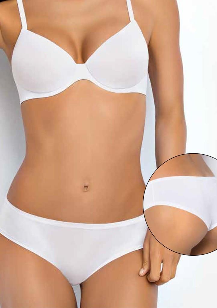 Dámské kalhotky Sielei 1559 NEW - bílá, černá XL Sv. hnědá