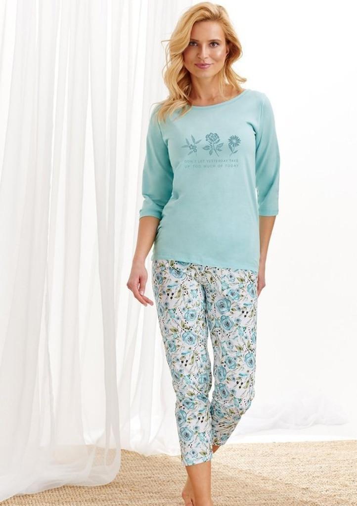 Dámske pyžamo Taro 2234 4XL Sv. modrá