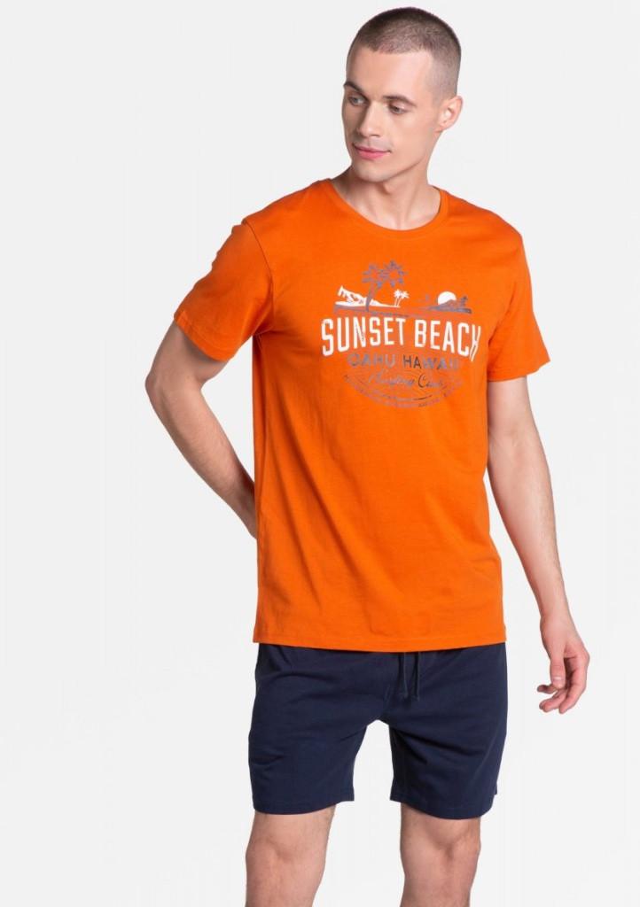 Pánske pyžamo Henderson 38867 XXL oranžová