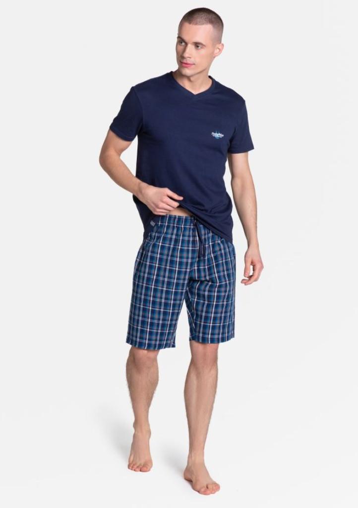 Pánske pyžamo Henderson 38884 XXL Tm. modrá