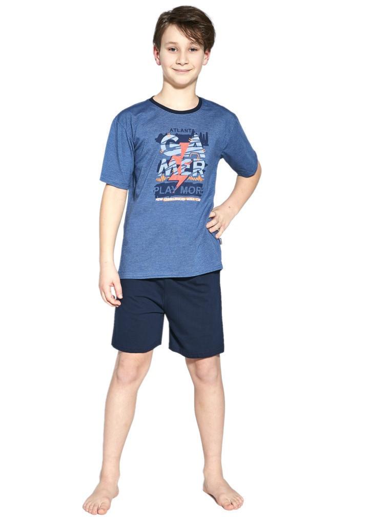 Chlapčenské pyžamo Cornette 476/92 134/140 modrá