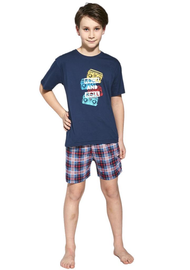 Chlapčenské pyžamo Cornette 790/91 134/140 Tm. Modrá