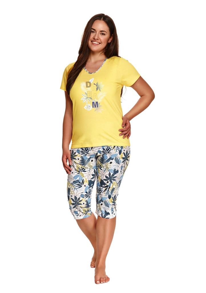 Dámske pyžamo Taro 2186 4XL žltá