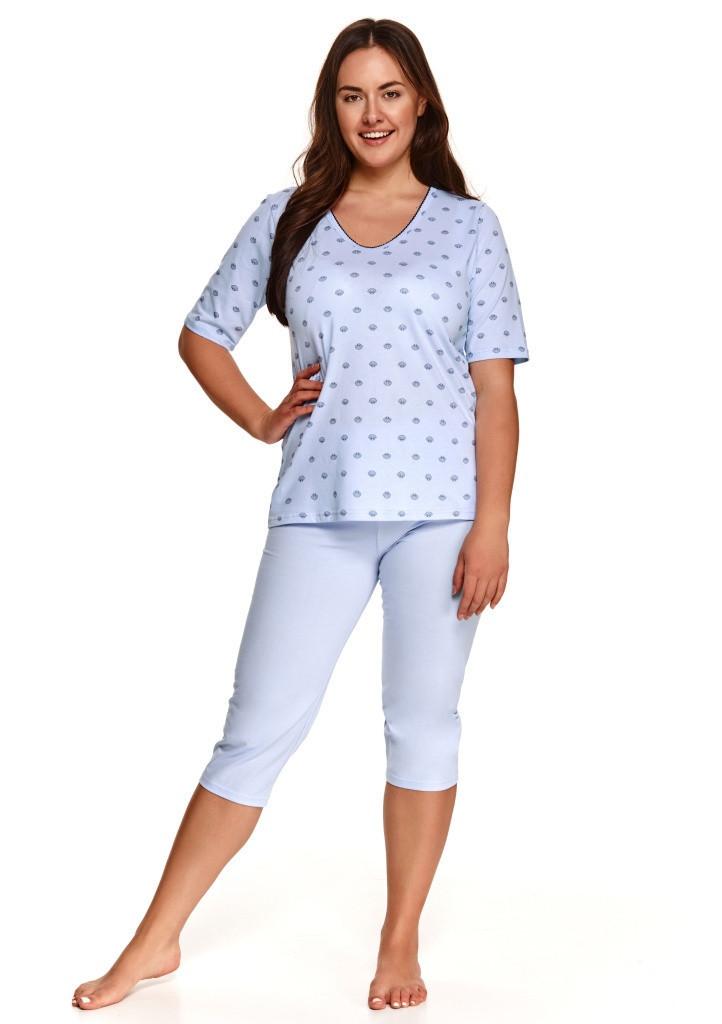 Dámske pyžamo Taro 2372 4XL Sv. modrá