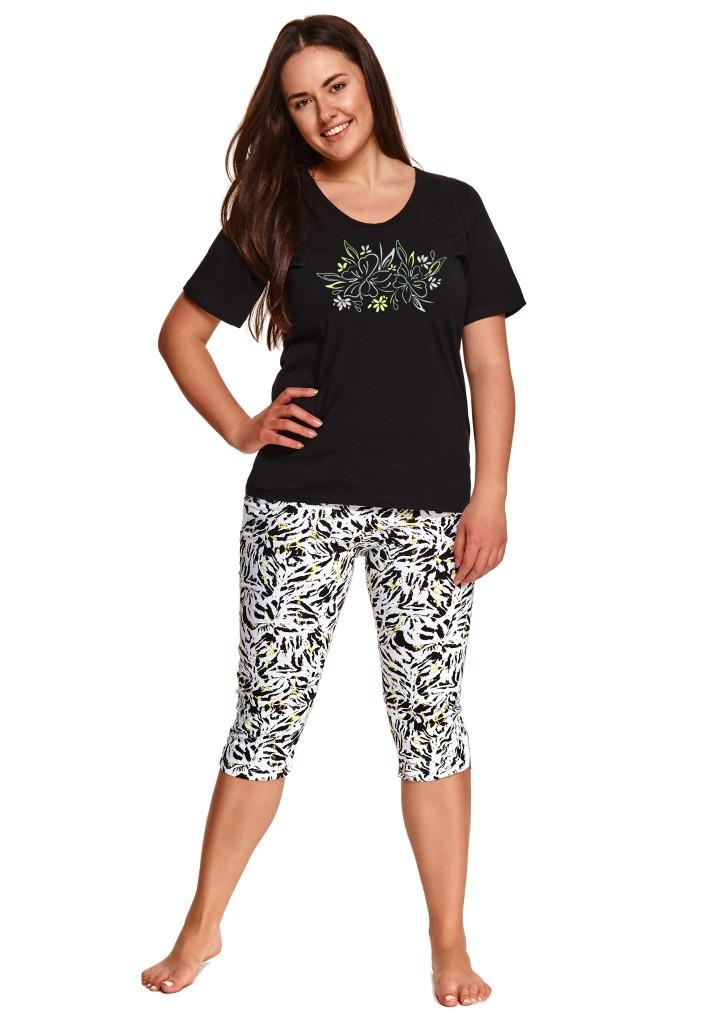 Dámske pyžamo Taro 2511 3XL čierna