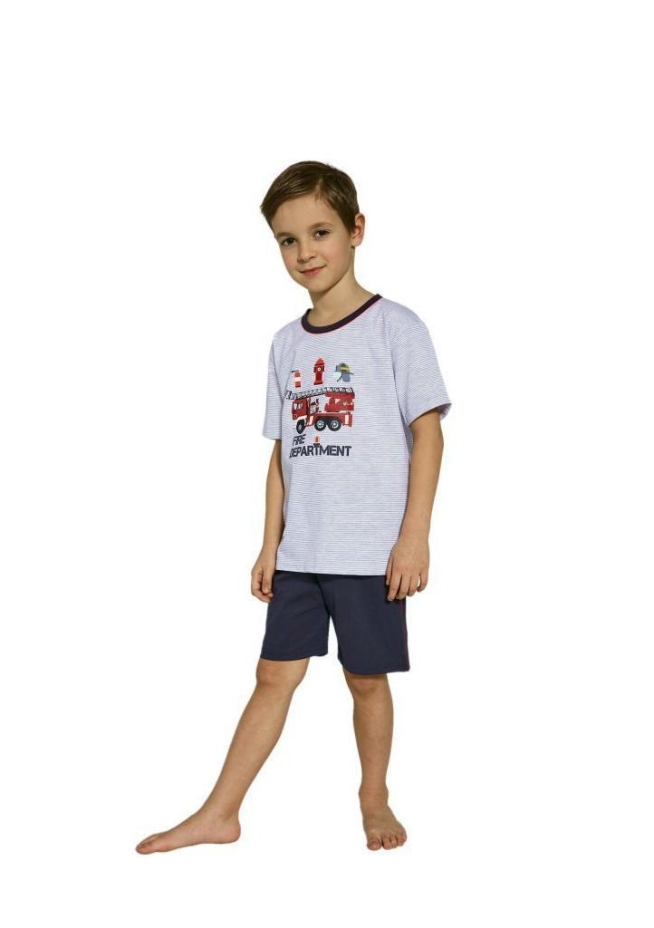 Chlapčenské pyžamo Cornette 473/88 110/116 Sv. šedá