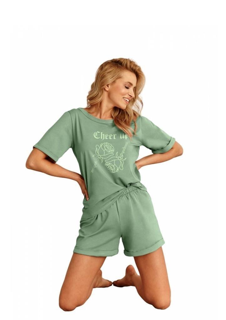 Dámske pyžamo Taro 2500 Kora 01 XL zelená