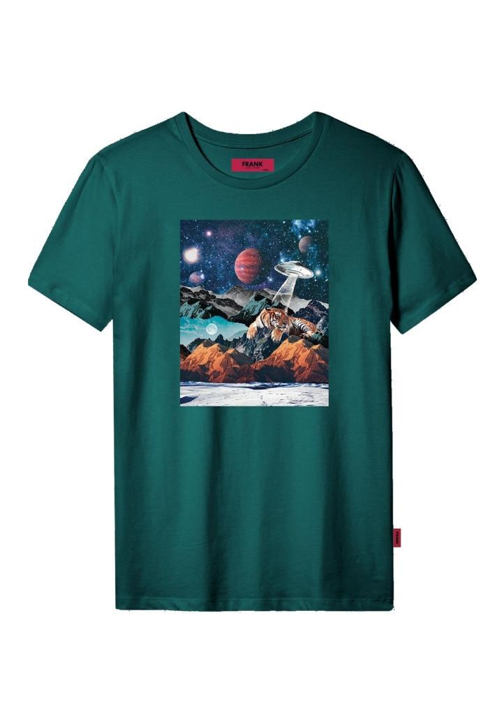 Pánske tričko John Frank JFTCOOL28 L zelená