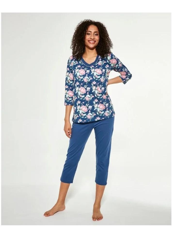Dámske pyžamo Cornette 481/289 XXL Modrá