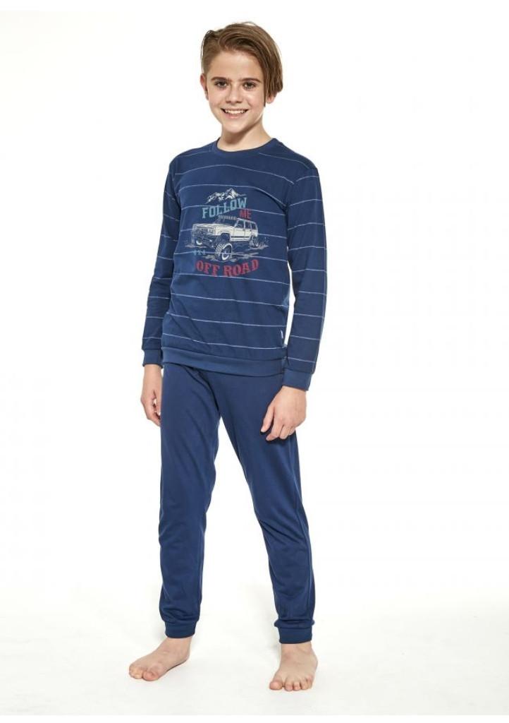 Detské pyžamo Cornette 478/124 110/116 Tm. modrá