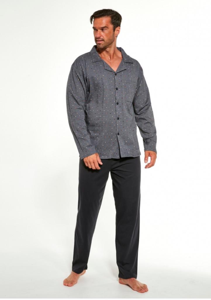 Pánske pyžamo Cornette 114/49 XL šedá