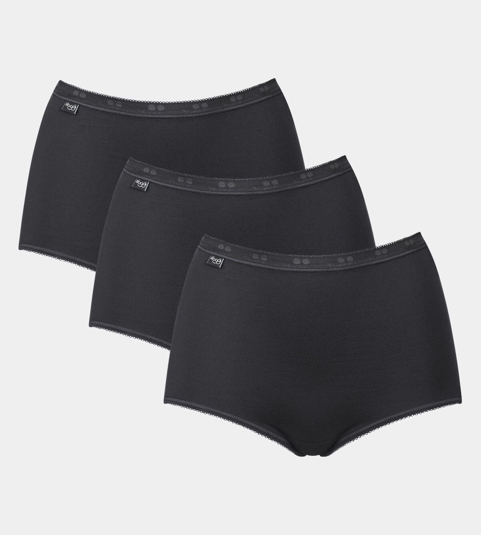 Dámske nohavičky Sloggi Basic + Maxi 3P čierna - Sloggi BLACK 42