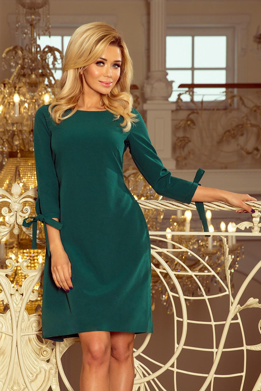 Zelené dámske šaty s mašľami 195-1 ALICE S