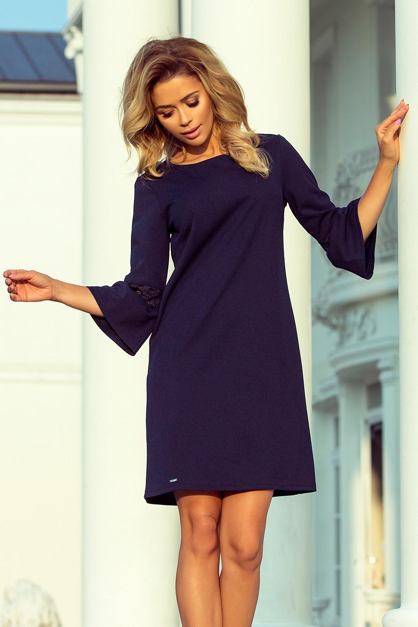 539a9160687 Tmavě modré šaty s krajkou 190-6 MARGARET S