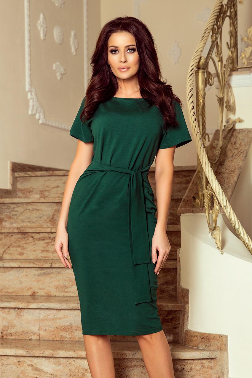 3281a3d40a72 VERA - Dámské šaty v lahvově zelené barvě