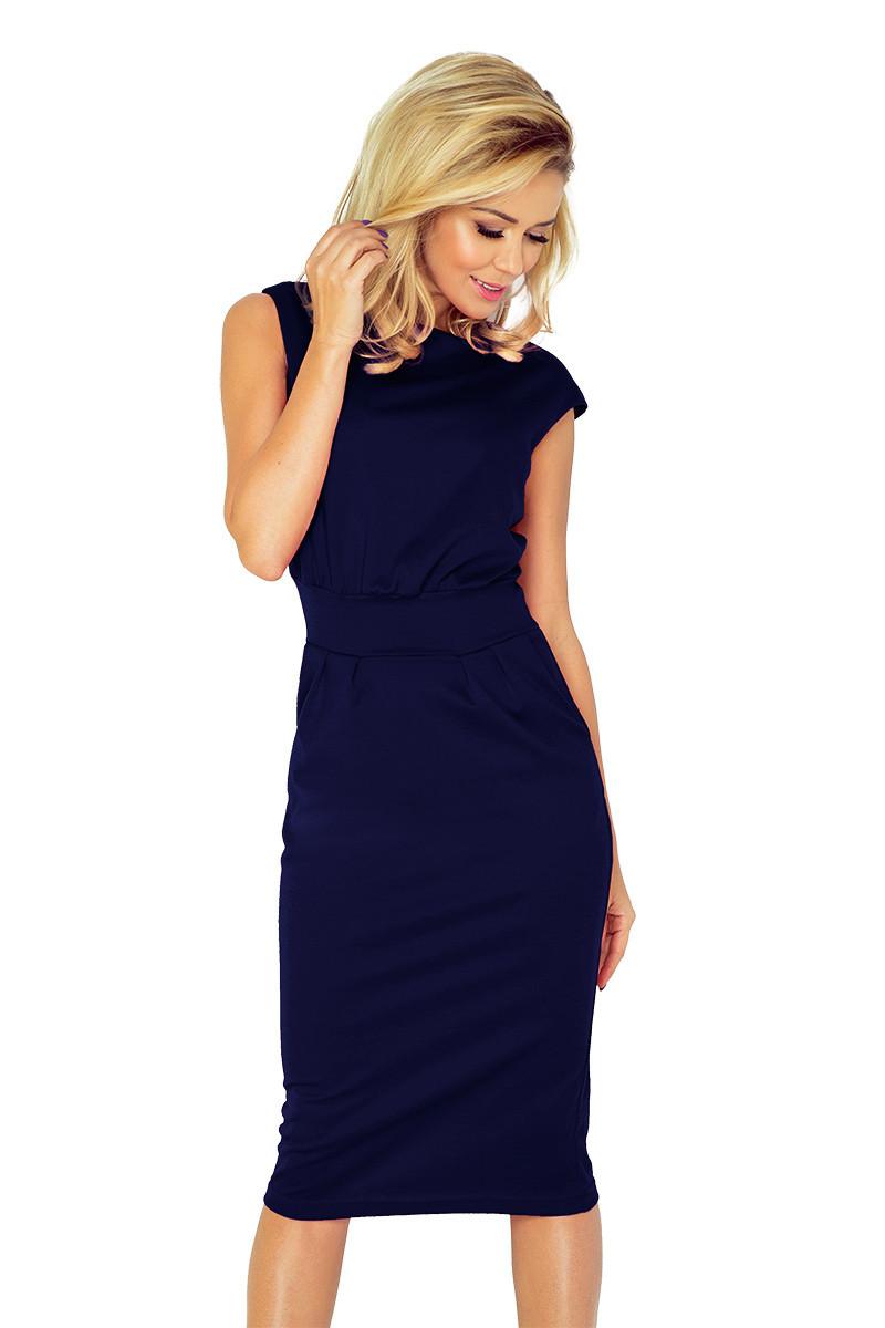f5e2dc59a82 Tmavě modré dámské šaty 144-4 Varianta  XL