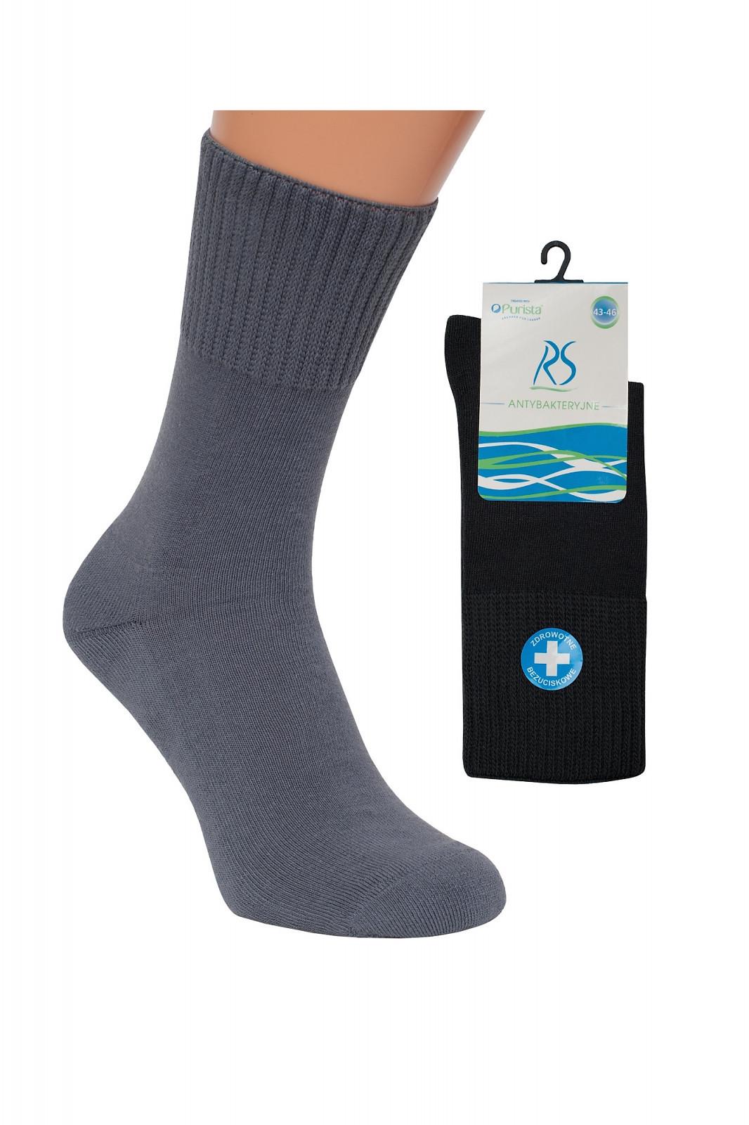 Pánske ponožky Regina Socks Purista Antybakteriální Froté čierna 39-42
