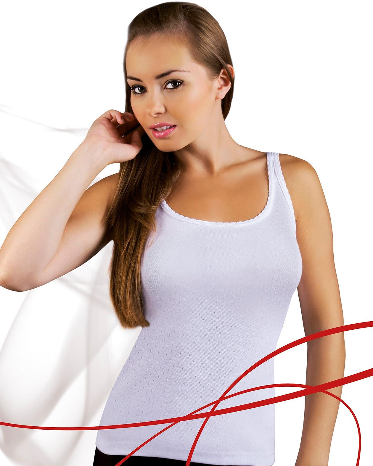 Dámská košilka Emili Mania S-XL bílá bílá XL