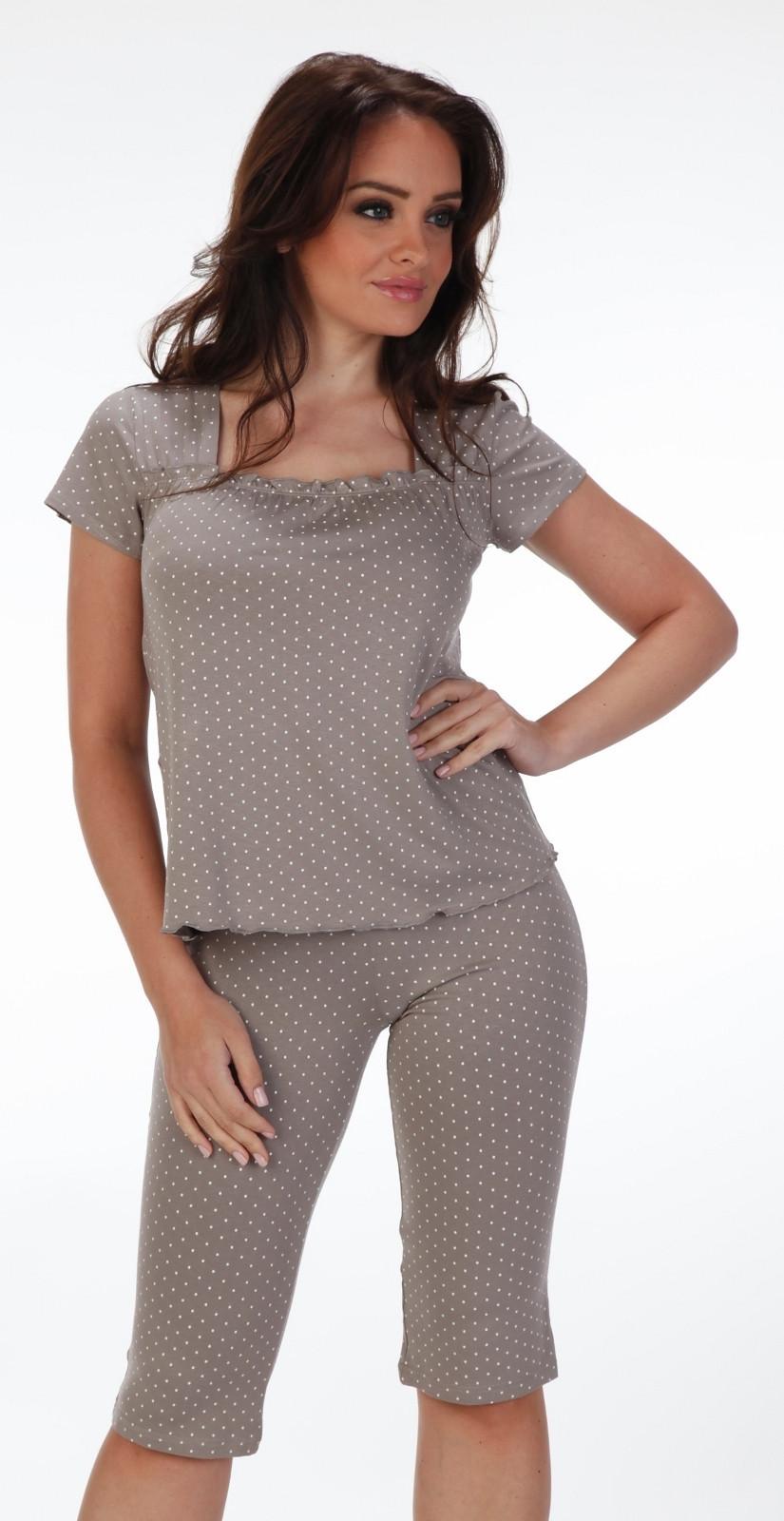 Pyžamo Forex Puntíky 919 Barva: šedá, Velikost: XL