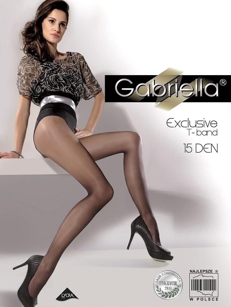 Dámske pančuchové nohavice Gabriella Exclusive 15 den nero / čierna 4-L