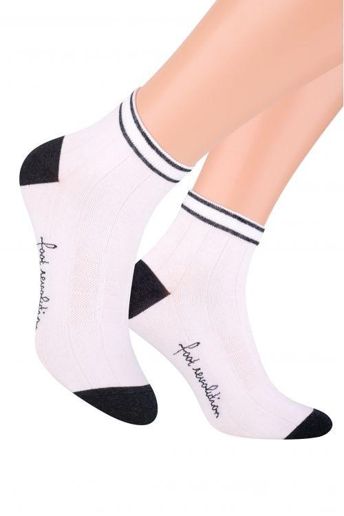 Pánske členkové ponožky Steven Šport art.054 biely 44-46