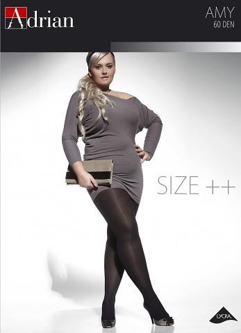 Dámske pančuchové nohavice Adrian Amy Size ++ 60 deň 7-8 nero/černá 7-3XL