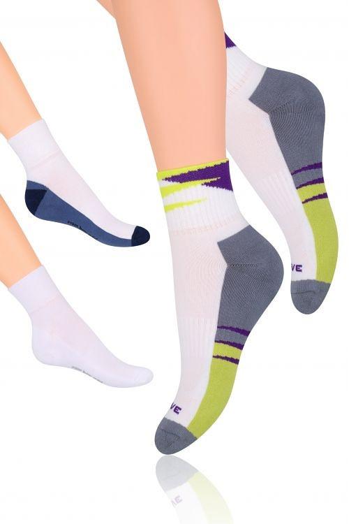 e4d056c2e05 Sportovní ponožky Steven art.040 bílé-světle šedá 44-46