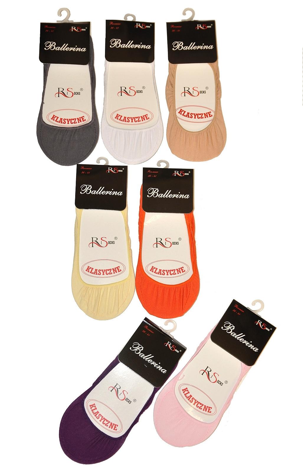 Dámské ponožky baleríny Risocks Ballerina art.5691696 béžová 36-41