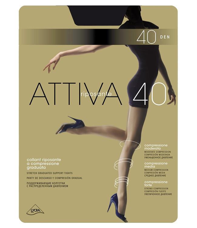 Punčochové kalhoty Omsa Attiva 40 den S-XL Barva: odstín béžové, Velikost: 2-S