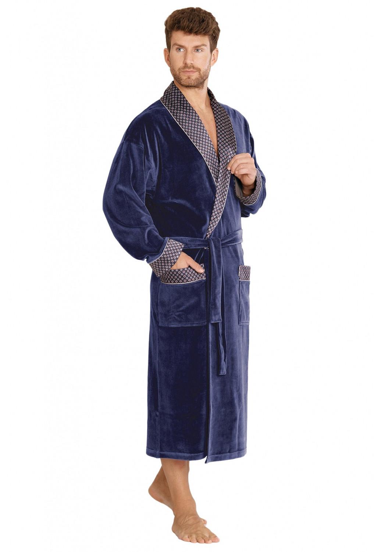 Župan Forex Bonjur 773 dlouhý Barva: tmavě modrá, Velikost: XXL