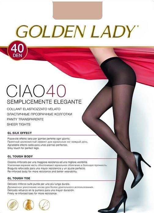 Punčochové kalhoty Golden Lady Ciao 40 den Barva: odstín béžové, Velikost: 2-S