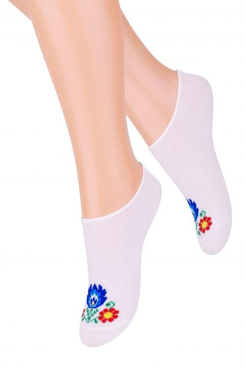 Dámské ponožky Steven Folk art.120 zelená