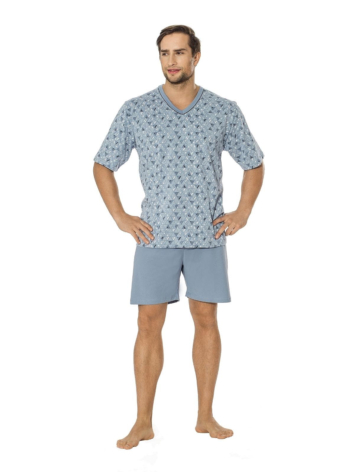 Pánské pyžamo Luna 793 M-2XL kr/r tmavě šedá M