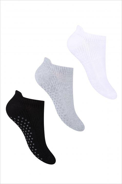 Dámské kotníkové ponožky Steven ABS art.135 černá 35-37