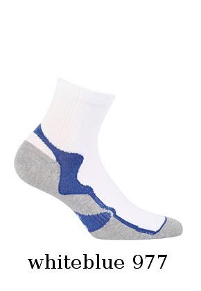 fd55aa120a3 Pánské kotníkové ponožky Wola W 94.1N4 Ag+ Barva  bílá-šedá