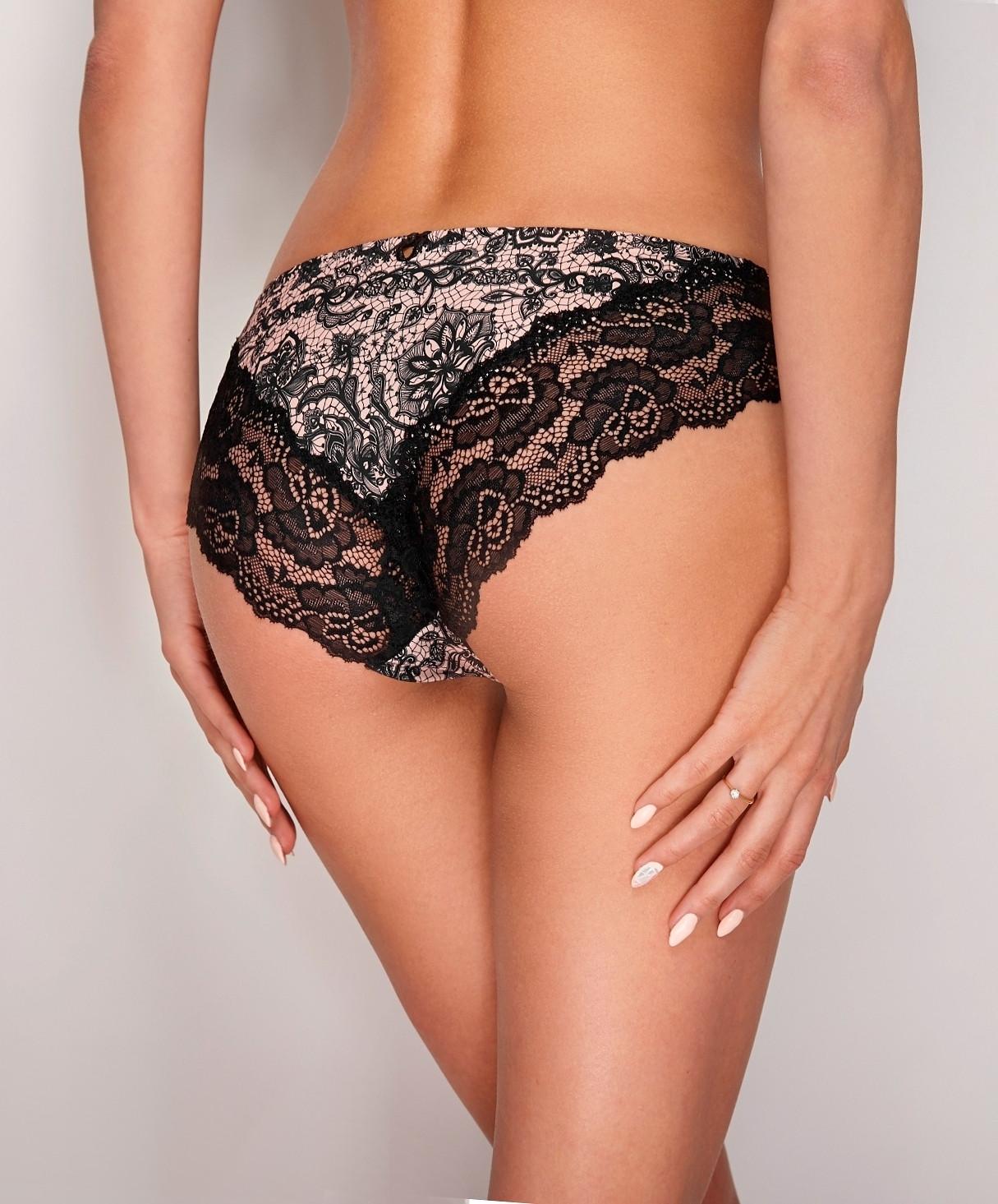 Klasické kalhotky figi Ewana N 53 Barva: černá, Velikost: S